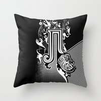 pi Throw Pillows featuring PI by Artysmedia
