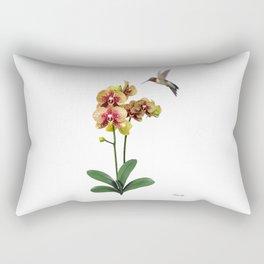 Hummingbird & Phalaenopsis Rectangular Pillow