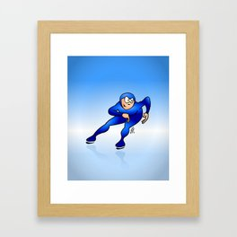 Speed Skater Framed Art Print