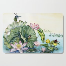 Japanese Water Lilies and Lotus Flowers Cutting Board