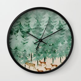 Into wilderness we go Wall Clock