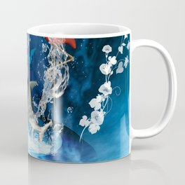 Dolphin jumping by a heart Coffee Mug