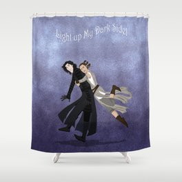 Light Up My Dark Side Shower Curtain