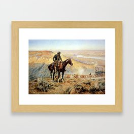 """""""The Wagon Boss"""" by Charles M Russell Framed Art Print"""
