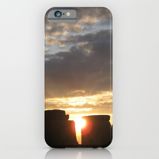 Sunset at Stonehenge iPhone & iPod Case