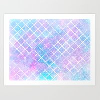 Starry Grid Art Print