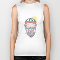 beard Biker Tanks featuring BEARD by Nazario Graziano