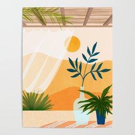 Sunset Desert Patio Poster
