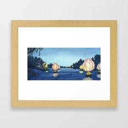 Lanterns On The Lake Framed Art Print