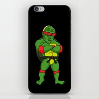 putin iPhone & iPod Skins featuring Teenage Putin Ninja Turtle by Chris Piascik