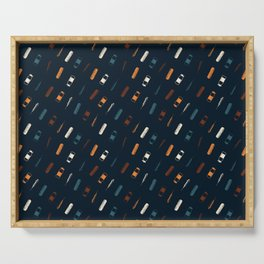 Vintage Vaccines - Small on Navy Serving Tray