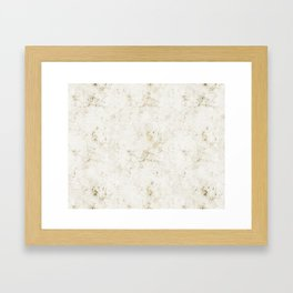 Gold Marble Mine Stone Framed Art Print