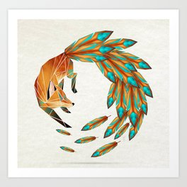 fox circle Kunstdrucke