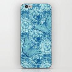 Butterflies on butterflies in blue iPhone Skin