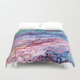 Rainbow Dream Groovy Flow #22 Duvet Cover