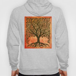 Tree Of Life Warm Tones Hoody
