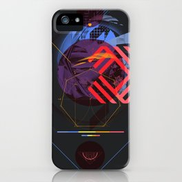 Chaotic Polygon Ensemble iPhone Case