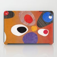 mid century modern iPad Cases featuring Warm Bold Mid Century Collage 1 by Beatrice Roberts