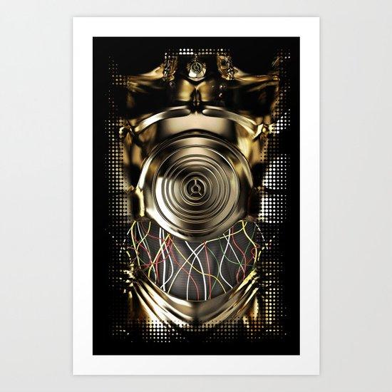 C-3PO Iphone protocol droid case. Art Print