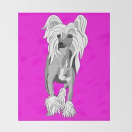 Sassy Chinese Crested Throw Blanket