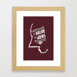Mississippi Motto (Maroon) Framed Art Print