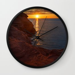 Seacow Head Sunset Wall Clock