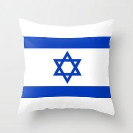 Israel Flag - High Quality image Throw Pillow