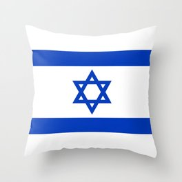 Israel Flag - High Quality image Throw Pillow