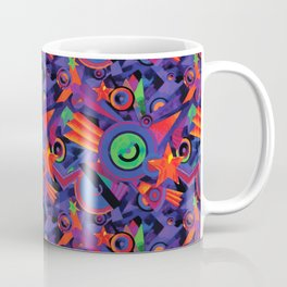 Star Burst Geometric Carpet Pattern Coffee Mug