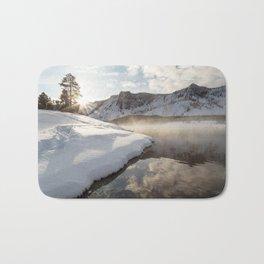 Yellowstone National Park - Bison tracks along the Madison River Bath Mat