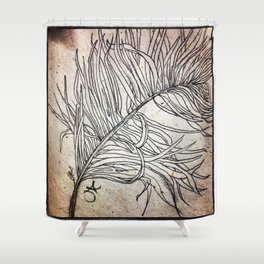 Palm Flower on Earth Day Shower Curtain
