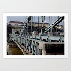 Széchenyi Chain Bridge Art Print