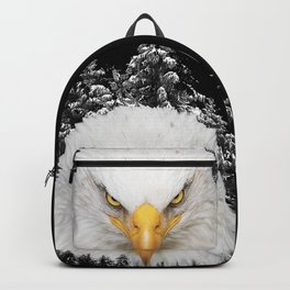 Big bald eagle in the mountains Backpack