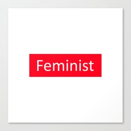 Feminist Red Rectangle Canvas Print