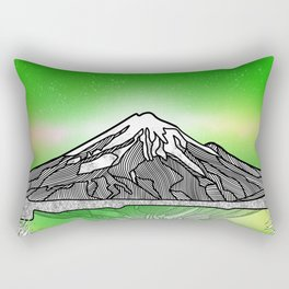 Mount Taranaki New Zealand Rectangular Pillow