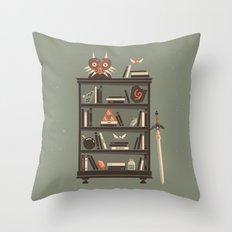 Zelda Shelf // Miyamoto Throw Pillow