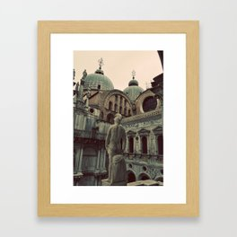 Venice: Statue Framed Art Print