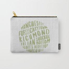Richmond Neighborhoods (Green + White) Carry-All Pouch