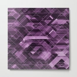 Abstract violet pattern Metal Print