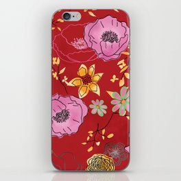 Aurora Larger Floral print iPhone Skin