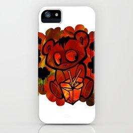 Abstract Graffiti Bear iPhone Case