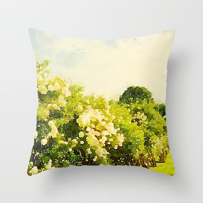 Hydrangea Bushes, Kennebunkport, Maine Throw Pillow