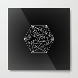 Intricate - Black And White Geometric, Conceptual Abstract Metal Print