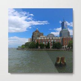 Manhattan And Hudson River Metal Print