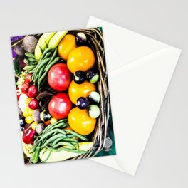 Veggie Basket Stationery Cards