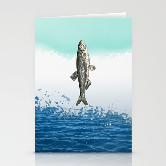 little fish big fish Stationery Cards