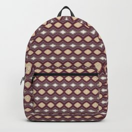 Handcrafted Diamonds Claret Backpack