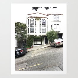 russian hill in san francisco Art Print