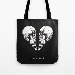Skullheart - love kills s/w Tote Bag
