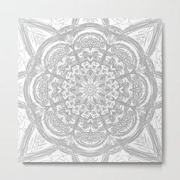 Mandala - Light and Feather Metal Print